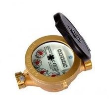 Single jet wet type water meter