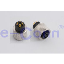 High Speed IP67 Circular 4pin Female Solder Connector