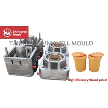 2 cavities 18 Liters plastic paint bucket mould