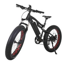 26 inch full suspension fat tire mountain electric bike