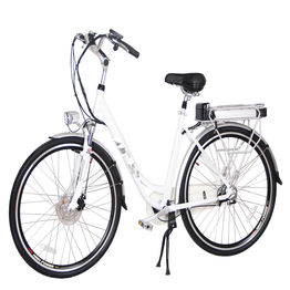 Front drive rear rack battery electric bicycle