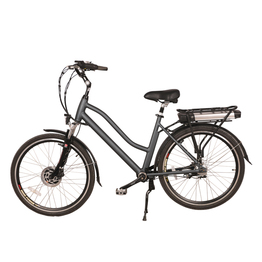 Shaft driven without chain lady city electric bicycle