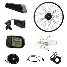 downtube battery 36v 250w eu standard led display brushless hub motor electric bike conversion kit