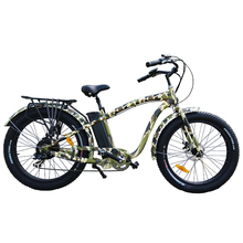 26 x 4.0 kenda camouflage color fat tire beach curise electric bike