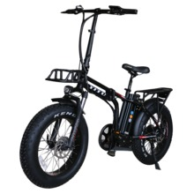 20 inch  48v 500w bafang rear drive hub motor with 13Ah samsung cells lithium  battery foldable fat tire electric bike