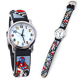 Children Cute Quartz Watcheskids Timer Watchkids Superhero