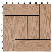 Composite wood patio tile