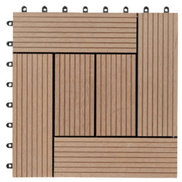 Interlocking DIY tile WPC