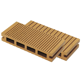 Durable composite vinyl wood fireproof wpc decking boards