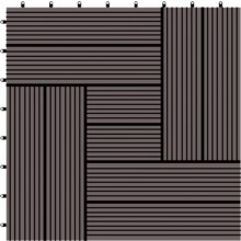 Outdoor composite timber tile