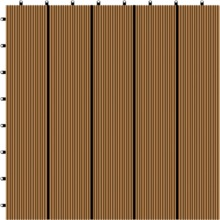 Premium composite decking tile