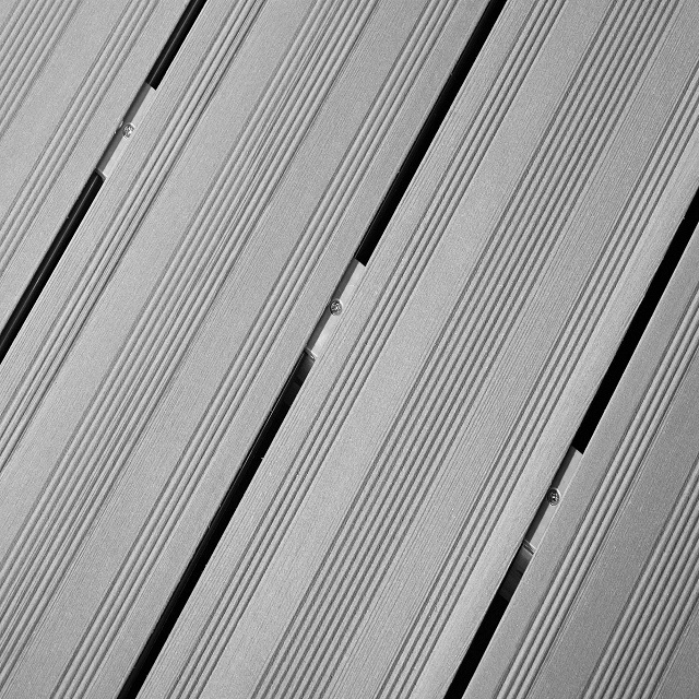 wpc grooved decking