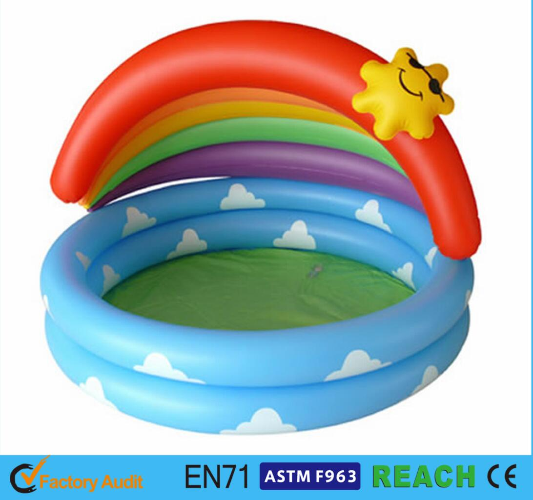 Product Inflatable Swim Pool With Rainbow Sun Canopy Swimming Pools For Sale Near Me Small