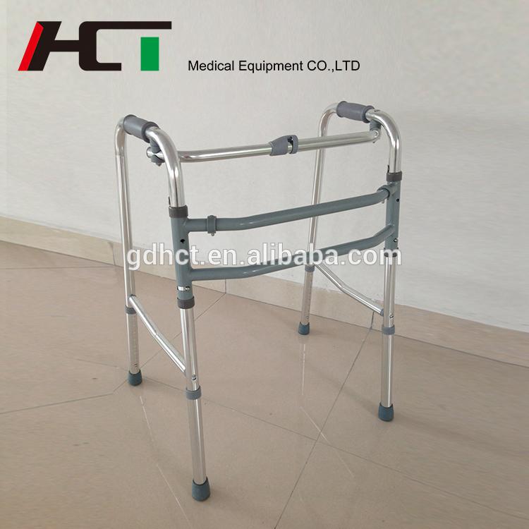 Equipo del Hospital Viejo Andador plegable de aluminio ligero de pie ...