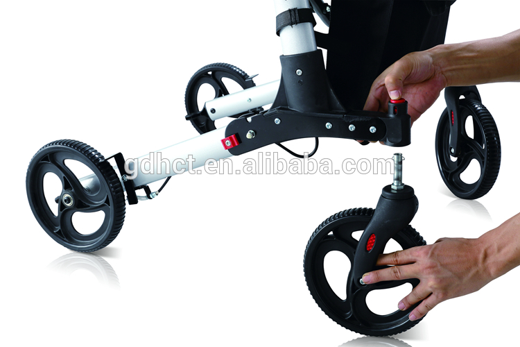 From China Wheels Folding Rollator Manufacturers Aluminum