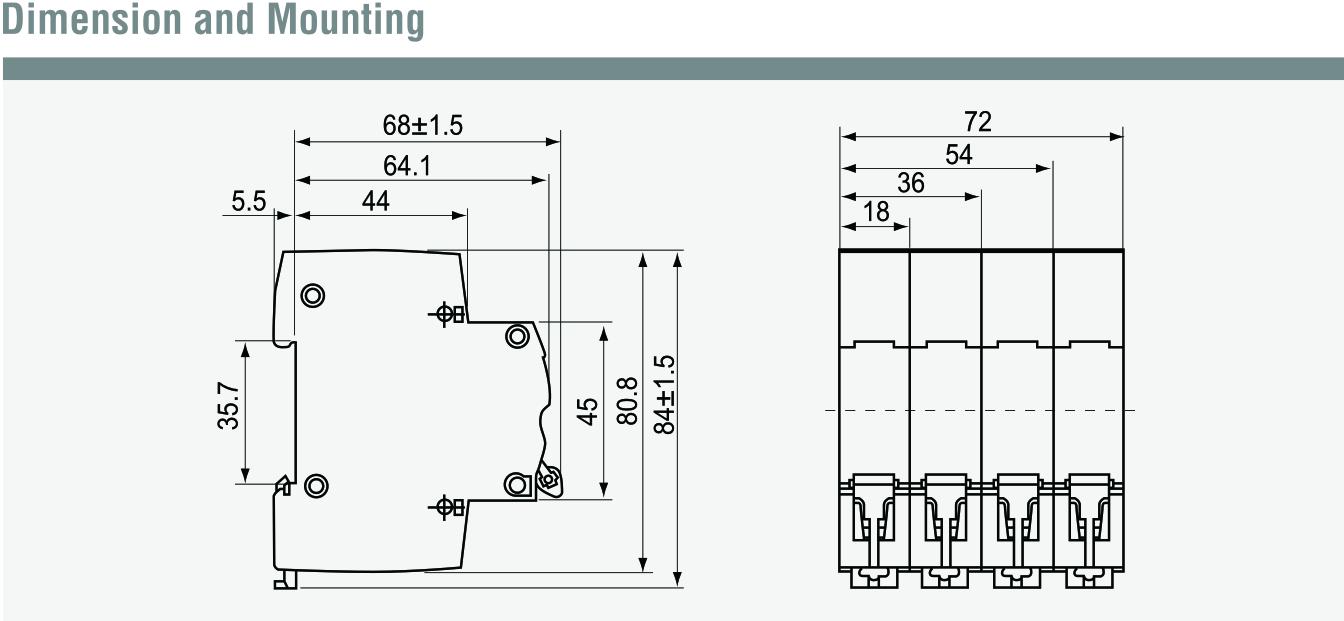 product - miniature circuit breaker 2pole