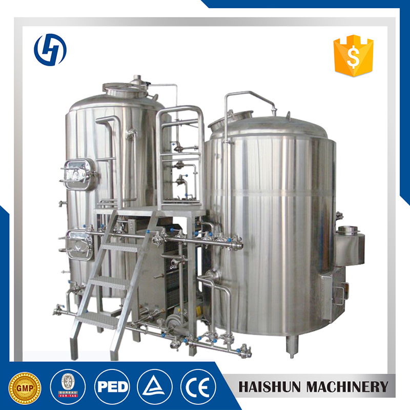 Brewhouse Heated By Gas Burner Used Fermenters For Sale