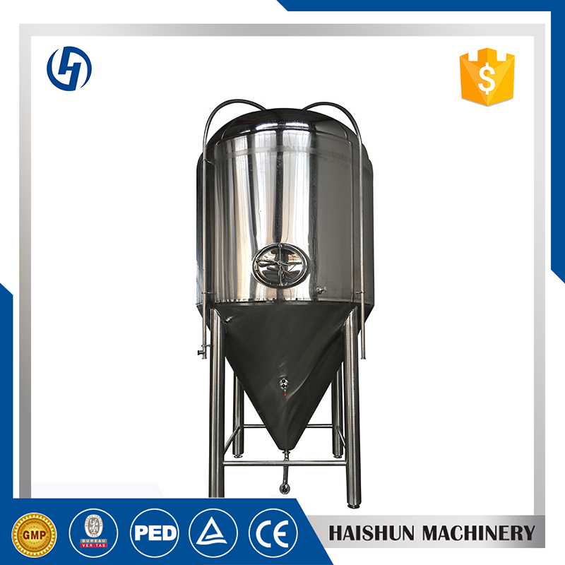 in house brewery conical fermenter stand