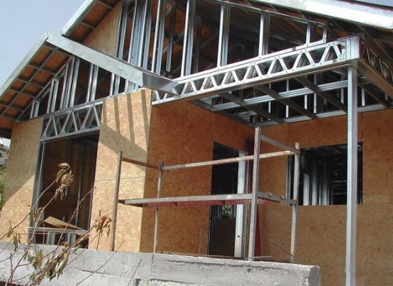 Installation of interior and exterior insulation decoration of wall and roof