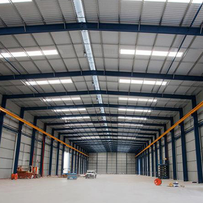 Prefabricated Workshop Warehouse inside looking