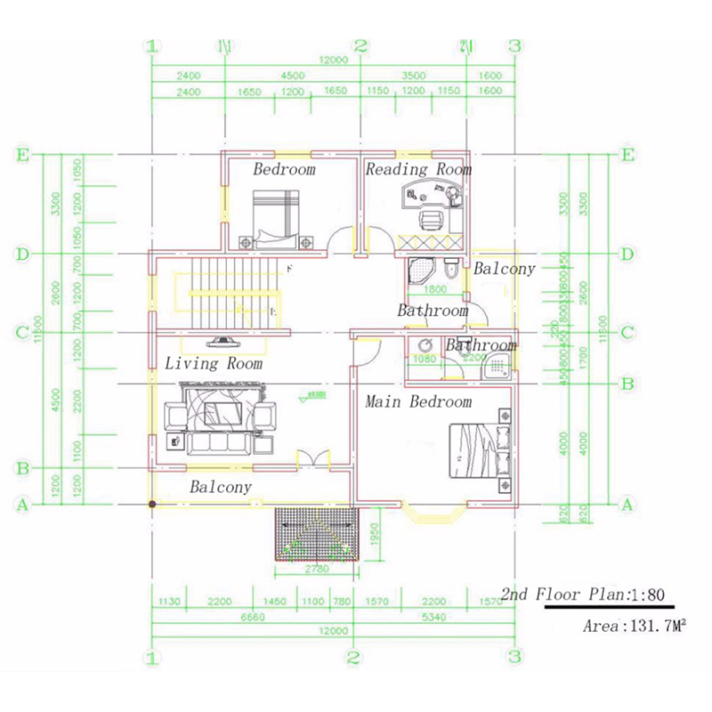 3bed rooms custom manufactured homes floor plan