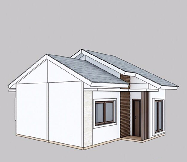 Structure chart of this prefabricated villa 2