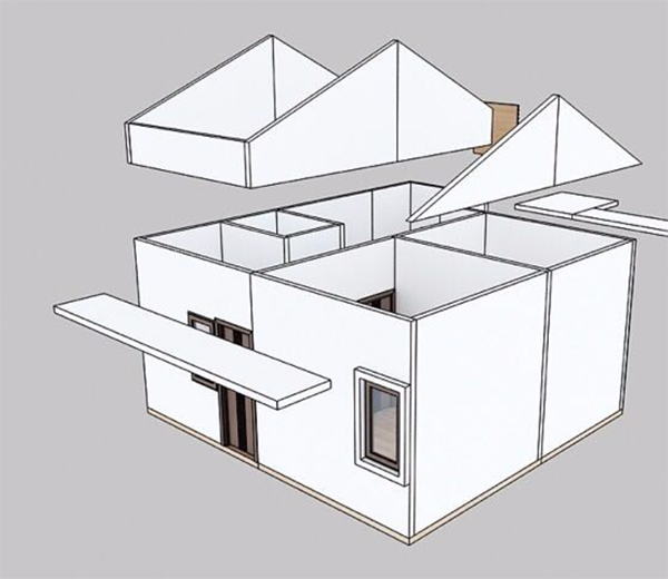 Structure chart of this prefabricated villa 5