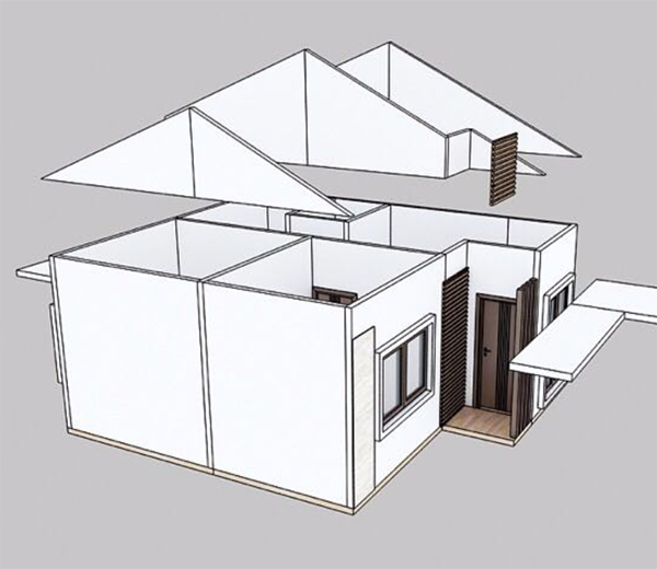 Structure chart of this prefabricated villa 6
