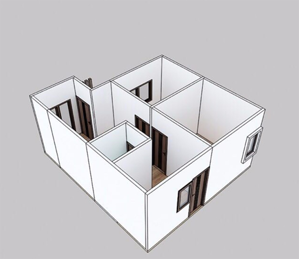 Structure chart of this prefabricated villa 7