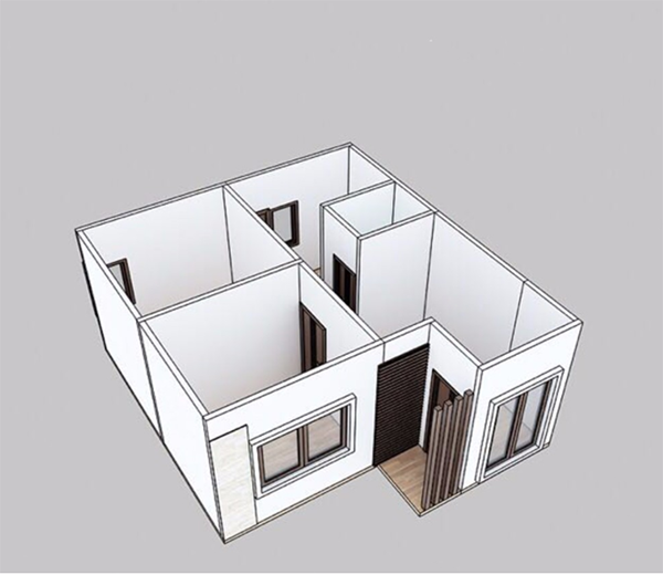 Structure chart of this prefabricated villa 8