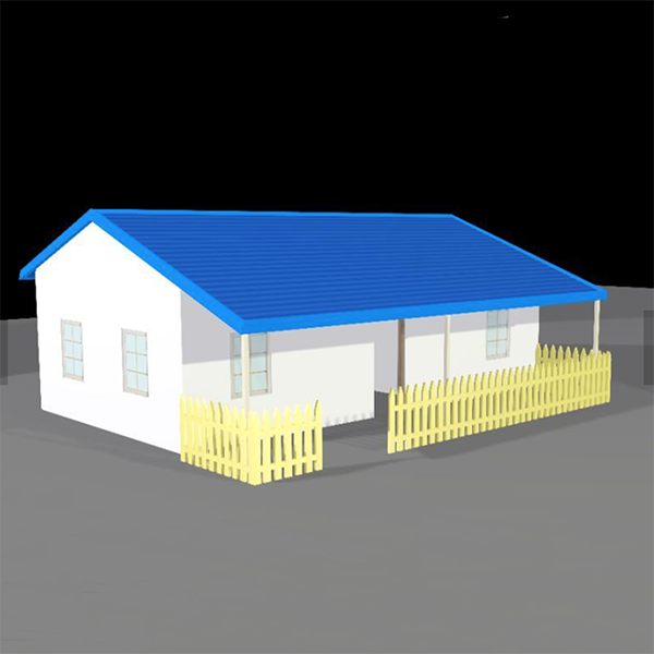 design diagram of this small morden prefabricated villa