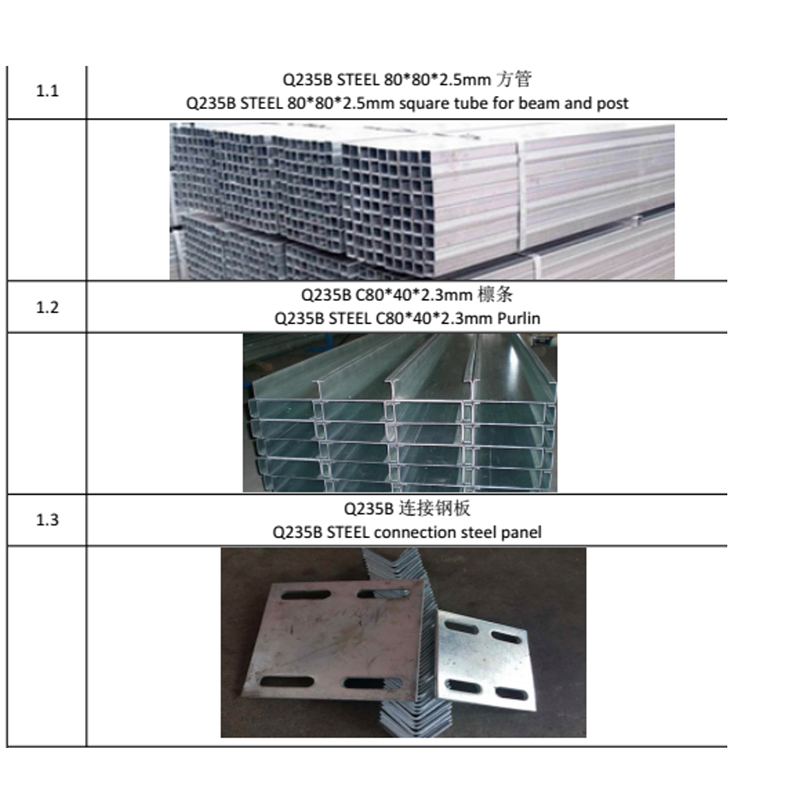light steel villa material