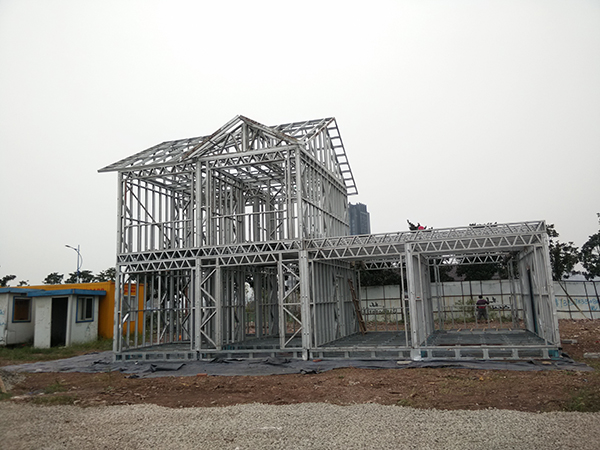 light steel frame of steel villa
