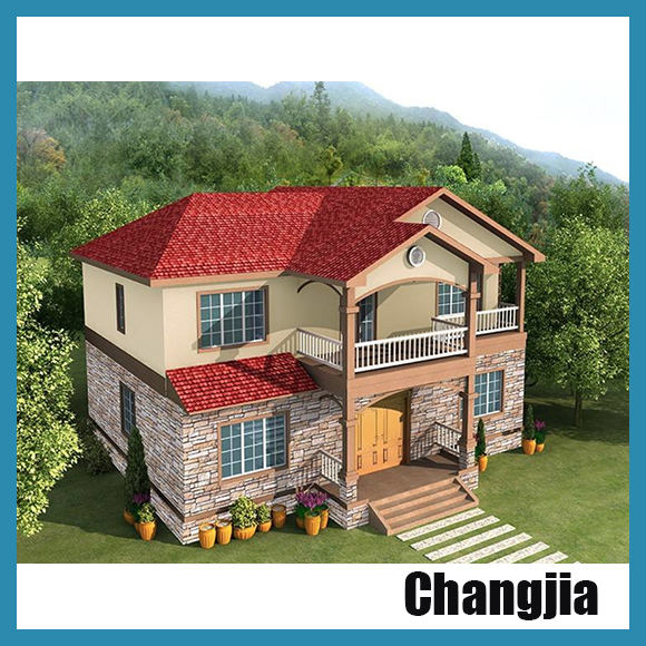 Custom rendering of the prefab villa