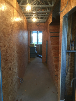 Inside installation of the modular homes