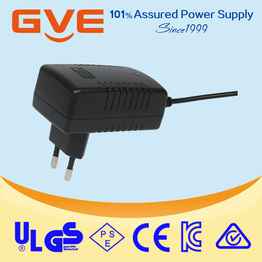 gve 12v 2a wall-mounted power adapter