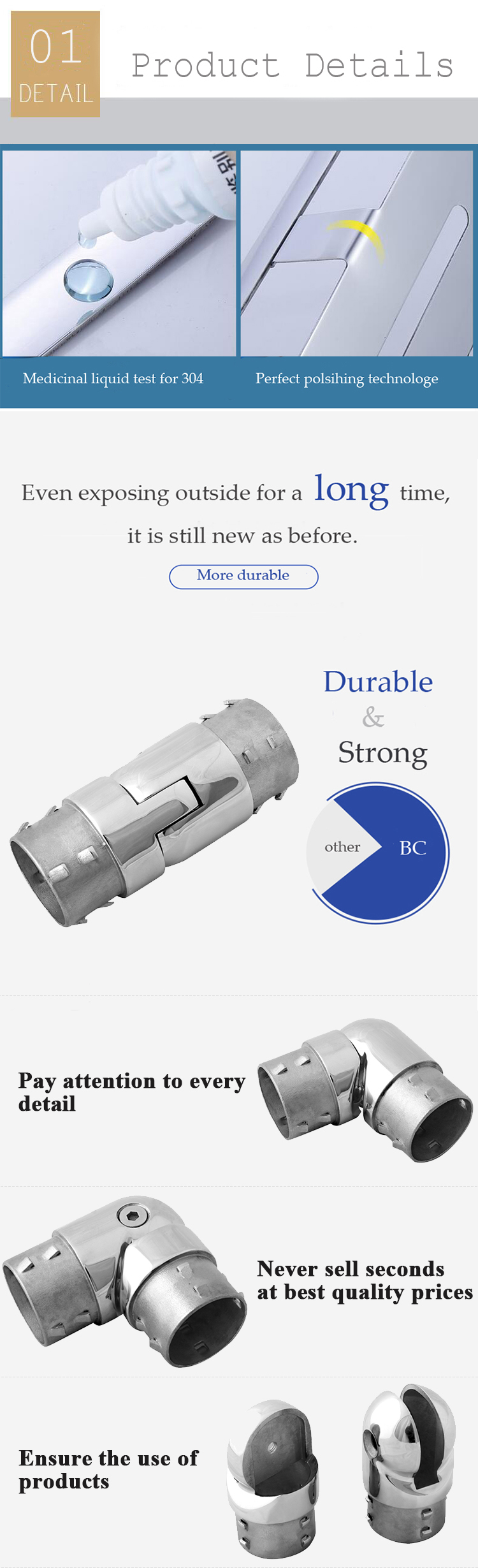 China factory price stainless steel steel rod connector