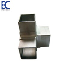 Stainless steel 3 way square handrail elbow