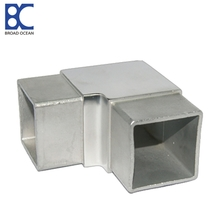 stainless steel square steel tube connectors for steel pipe