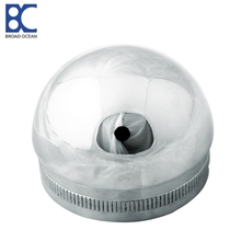 304sus 316sus stainless steel pipe fitting handrail threaded end cap