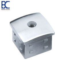 stainless steel square end cap/cheap price handrail end cap