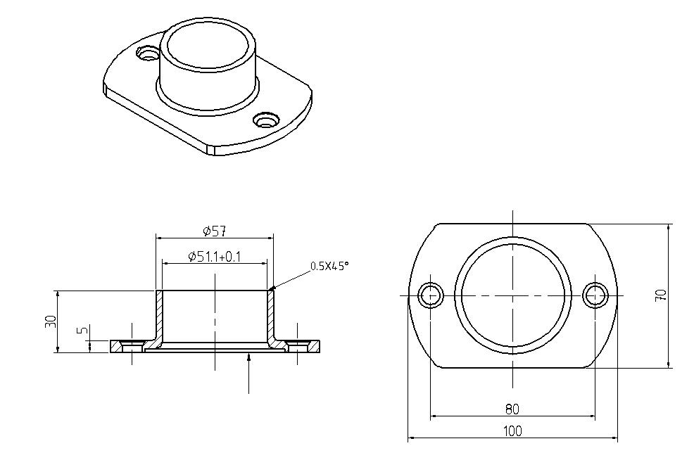 stainless steel pipe end cap flange cover