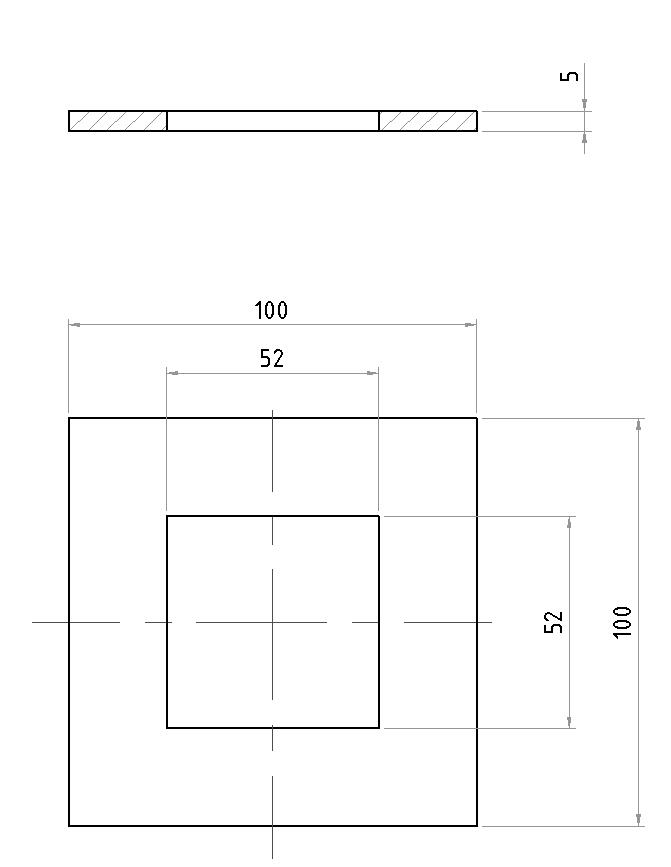 balcony steel square post base plate/steel square post base plate