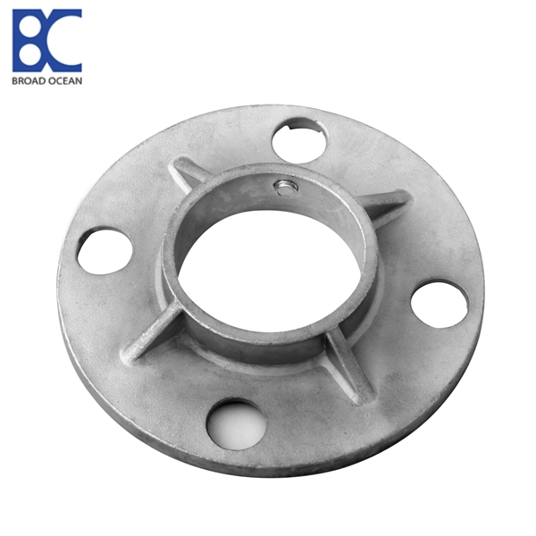 Stainless steel threaded base plate