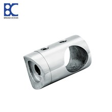 stainless steel handrail tubing glass connector