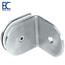 Stainless steel glass holding clamps