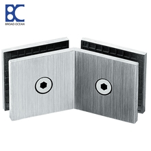 mirror satin door pivot hinge for glass door