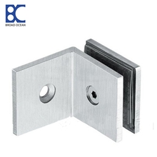90 degree wall to glass door clamp