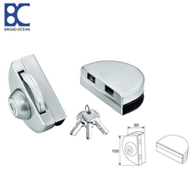 Stainless steel frameless glass door magnetic lock
