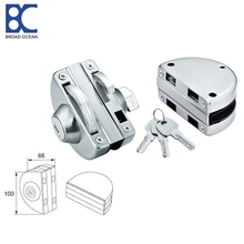 Stainless steel glass push door lock for glass door